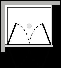 FR2P + FRFI : Puerta de doble batiente con lateral fijo (componible angular)