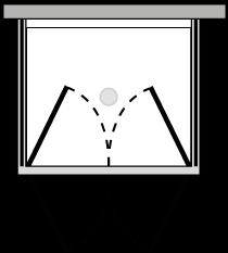 FR2P + FRFIX2 : Puerta batiente doble con dos laterales fijos (componible angular)