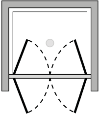 FR2P : Puerta de doble batiente (frontal)