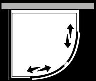 FRSC + FRFI : Semicircular 2 correderas con lateral fijo (componible angular)