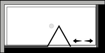 FRSFL + FRFI : Puerta plegable con panel fijo y lateral fijo (componible angular)