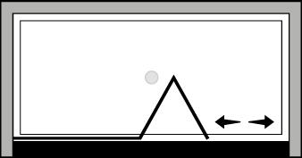 FRSFL : Puerta plegable con panel fijo (frontal)