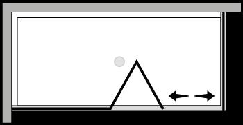 LKSFL + LKFI : Puerta plegable con panel fijo y lateral fijo (componible angular)
