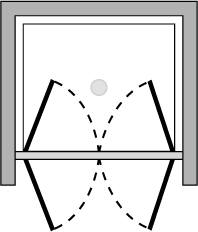 OM2P : Puerta de doble batiente (frontal)