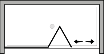 QUSFL : Puerta plegable con panel fijo (frontal)