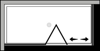 QUSFL + QUFI : Puerta plegable con panel fijo y lateral fijo (componible angular)