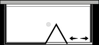 QUSFL + QUFIX2 : Puerta plegable con panel fijo y dos laterales fijos (componible angular)