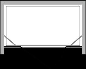 CNPL + CNFL : Puerta batiente con lateral fijo (componible en línea)