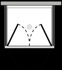 LB2P + LKFIX2 : Puerta batiente doble con dos laterales fijos (componible angular)