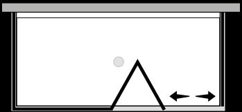 LKSFL + LKFIX2 : Puerta plegable con panel fijo y dos laterales fijos (componible angular)