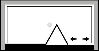 LKSFL : Puerta plegable con panel fijo (frontal)
