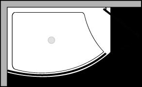 VLPTS + VLFI + VLPO48 : Plato de ducha de 113 cm de ancho con vidrio fijo y puerta