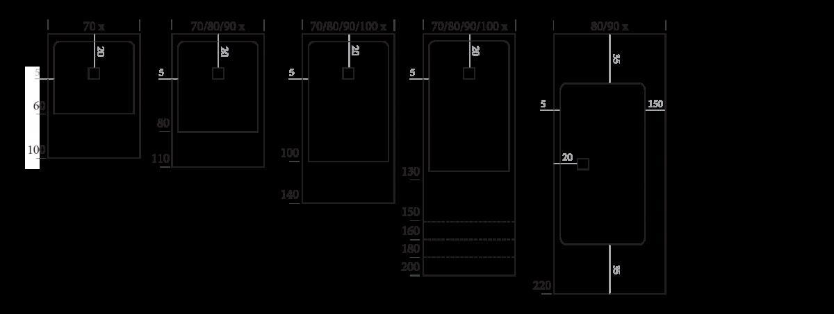 Dimensiones Piano