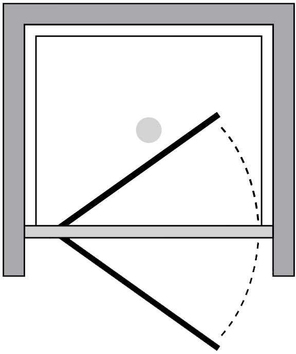 QT1P : Porta battente (in nicchia)