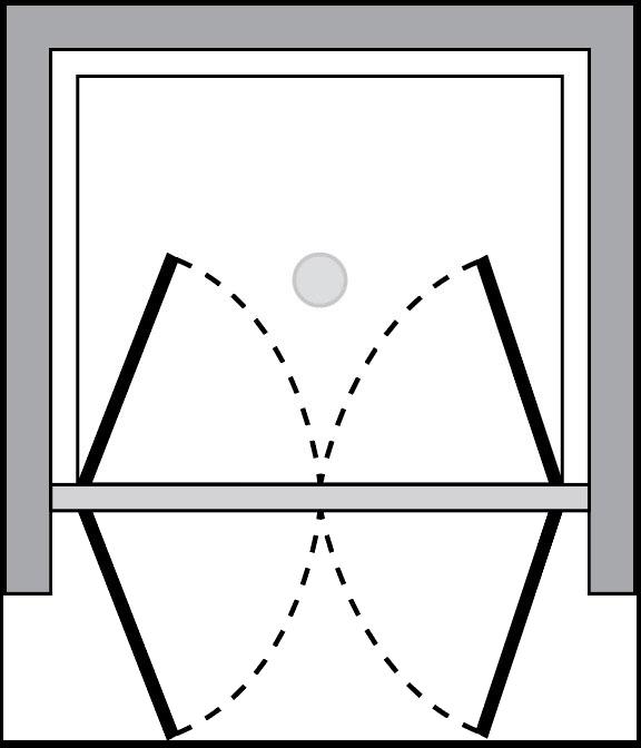 QT2P : Porta doppio battente (in nicchia)