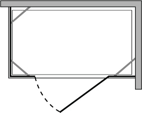 CN2F + CNPL : Puerta batiente con doble lateral fijo (componible)