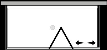 FRSFL + FRFIX2 : Puerta plegable con panel fijo y dos laterales fijos (componible angular)