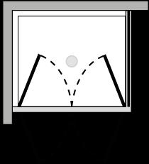 LB2P + LKFI : Puerta de doble batiente con lateral fijo (componible angular)