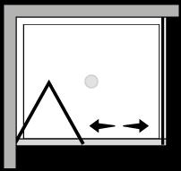 LKSF + LKFI : Puerta plegable con lateral fijo (componible angular)