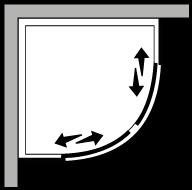 LSSC : Semicircular con 2 hojas correderas (componible)