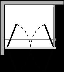 OM2P + OMFX : Puerta de doble batiente con lateral fijo (componible angular)
