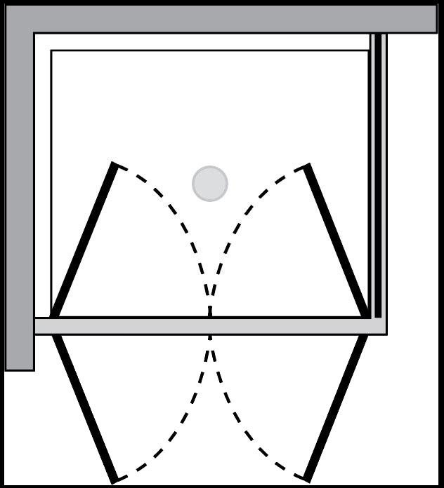 QT2P+QTFI : Porta doppio battente c/lato fisso (ad angolo)