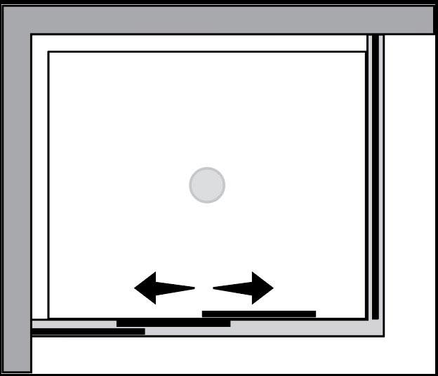 QTS2N+QTFI : Porta 2 ante scorrevoli c/lato fisso (ad angolo)