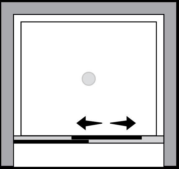 QTSN : Porta scorrevole (in nicchia)