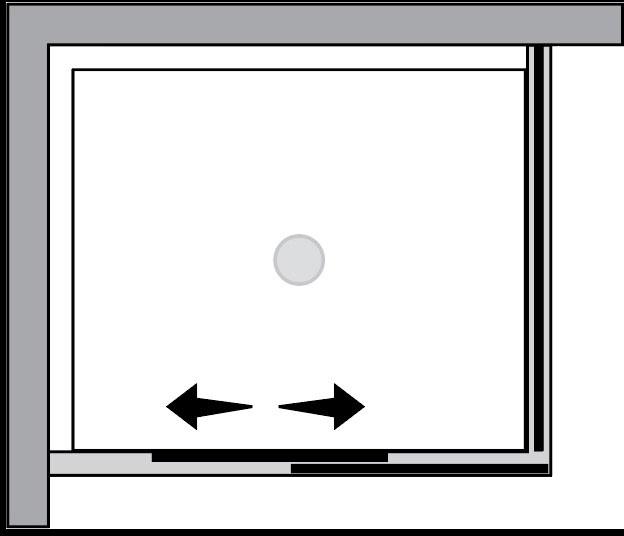 QTSN+QTFI : Porta scorrevole c/lato fisso (ad angolo)